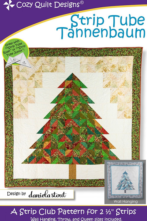 Cozy Quilt Designs Strip Tube Tannenbaum Quilt Pattern