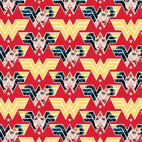 Wonder Woman 1984 Face Crop Fabric - Red