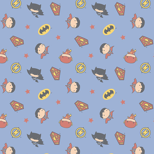 DC Comics Boy Heroes Blue Fabric