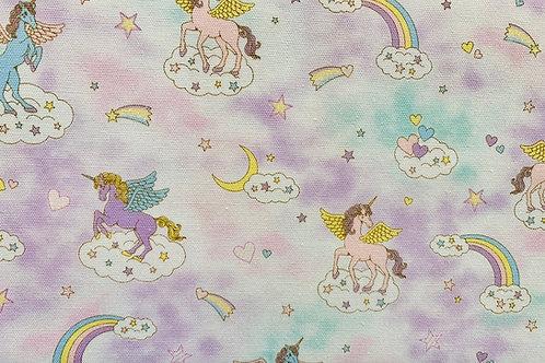 Fairy Tales II Lilac Unicorns Fabric