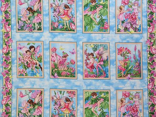Michael Miller Fairy Whispers Flowers Fairies Panel