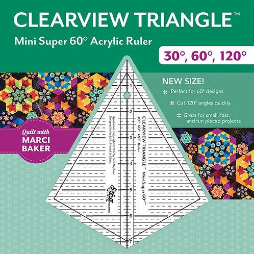 Clearview Triangle Mini Super 60 Degree 7-1/4 Ruler