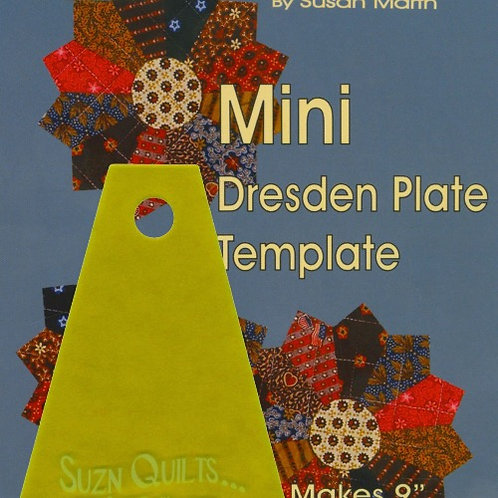 Suzn Quilts Mini Dresden Plate Template