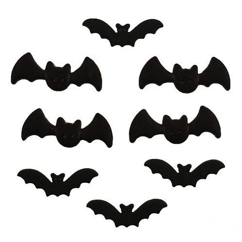 Halloween Bats Button Embellishments
