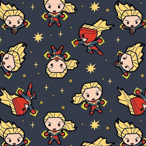 Slate Captain Marvel Fabric
