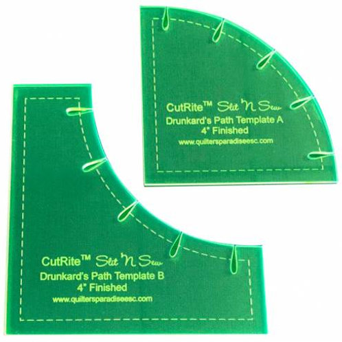 Slit N Sew 4in Finished Drunkards Path Template