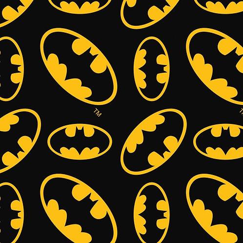 FLANNEL - Batman Logo Fabric - Black