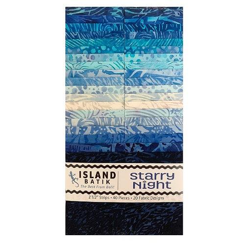 Island Batiks Starry Night 2.5in Strips