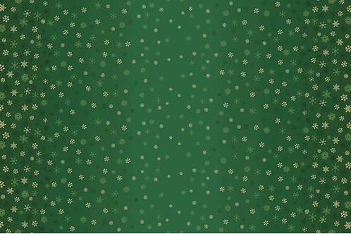 Ombre Snowflake Green Fabric Makower 2248/G