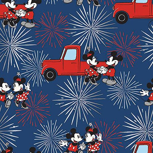 Mickey and Minnie Fireworks Fabric
