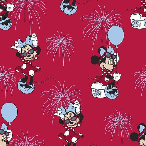 Disney Minnie Mouse Patriotic Fabric
