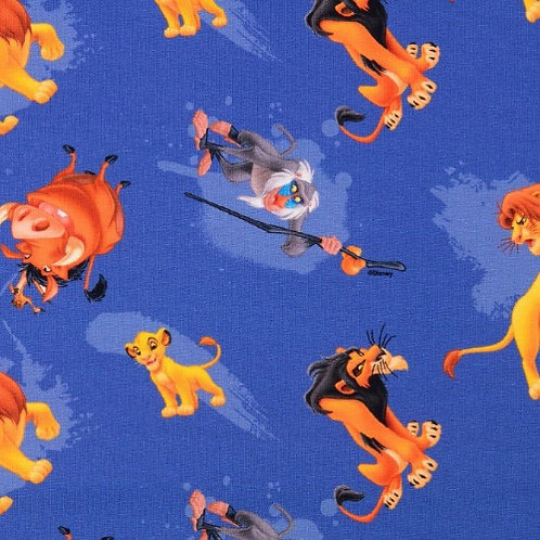 Disney The Lion King Characters Jersey Fabric