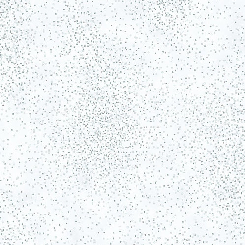 Ice Snow with Silver Metallic Christmas Fabric