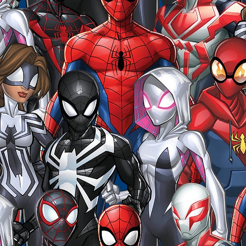 Marvel Spiderman and Friends Digitally Printed Fabric