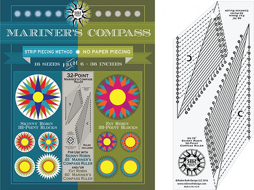 32 Point Mariner's Compass Book and ruler