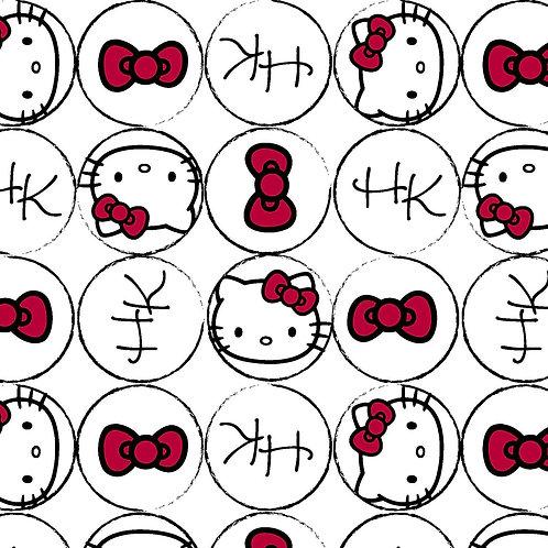 LP White Hello Kitty Fabric