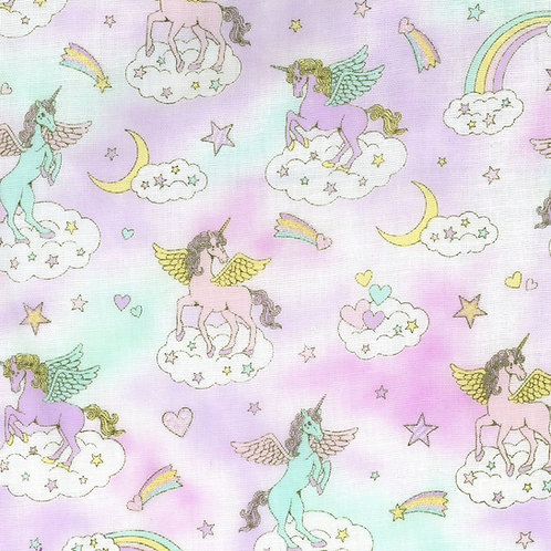 Fairytale Unicorn Double Gauze Fabric