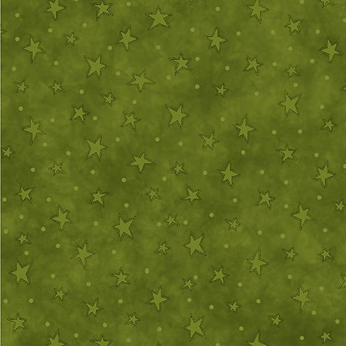 Green Starry Fabric