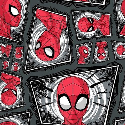 Spiderman Comic Swirl Fabric