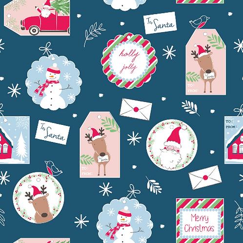 Christmas Gift Tags Christmas Post Fabric