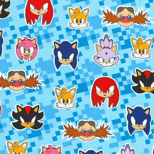 Sonic the Hedgehog Character Head Fabric