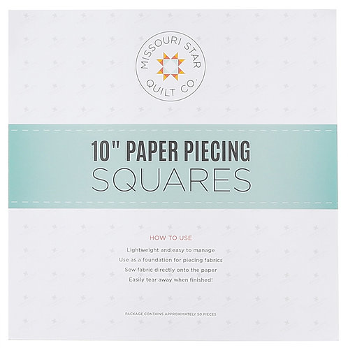"Missouri Star Quilt Company 10"" Square Paper Pieces 50 Pieces"