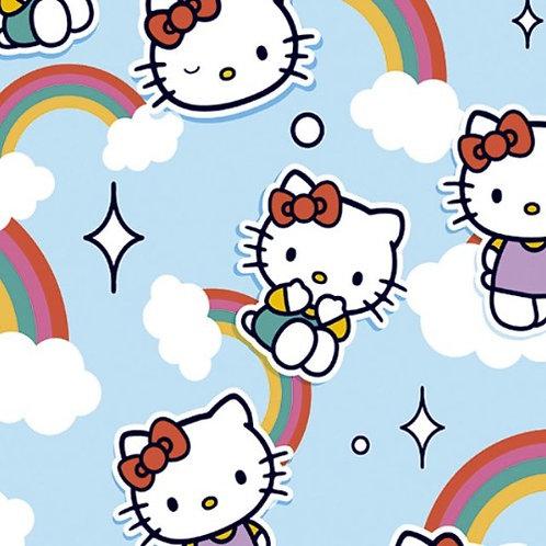 Hello Kitty Rainbows Fabric