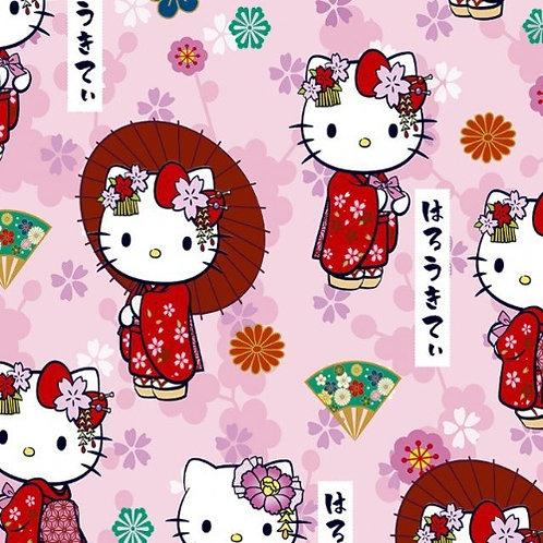 Hello Kitty Kawaii Fabric