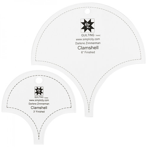 Ez Quilting 3in and 6in Clamshell Templates