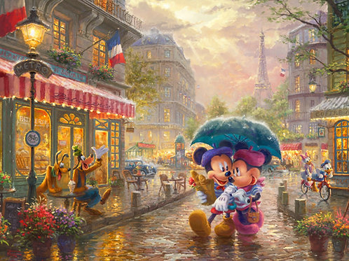 Disney Dreams Mickey and Minnie Mouse in Paris Panel