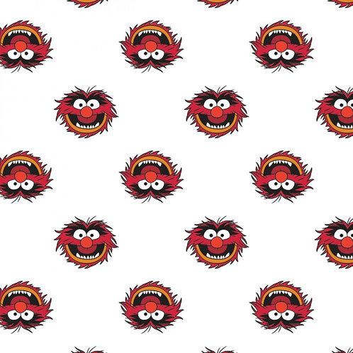 Disney The Muppets Animal Fabric - White