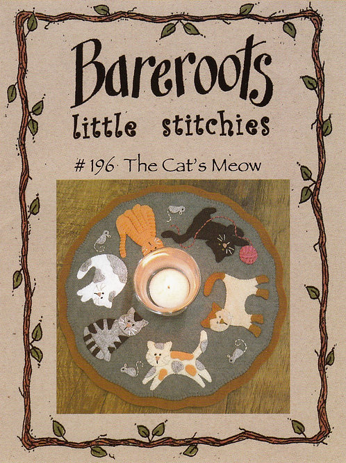 Bareroots Little Stitches Cat's Meow Candle Mat Pattern