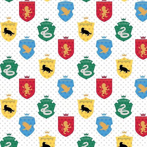 Harry Potter Multi Houses Tonal Fabric