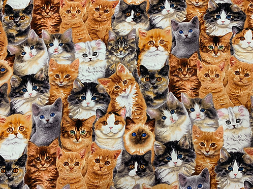 Packed Kitten Fabric
