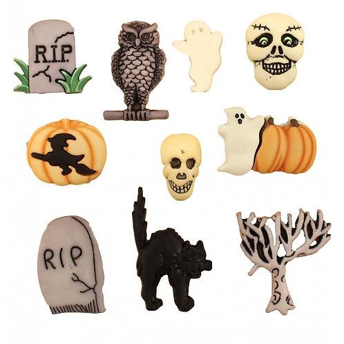 Halloween Graveyard Button Embellishments