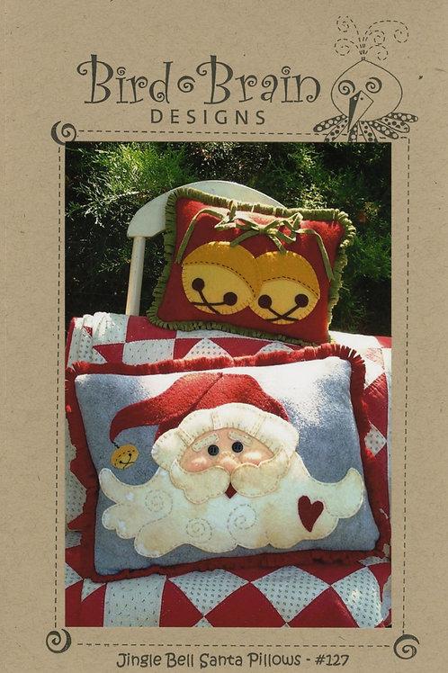 Jingle Bell Santa Pillows Pattern