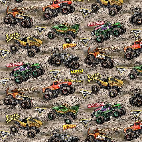 Monster Jam Monster Trucks On Dirt Fabrics