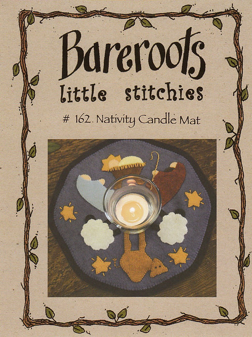 Bareroots Little Stitches Nativity Candle Mat Pattern
