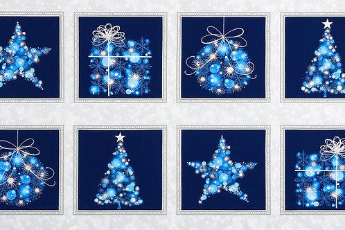 Evening Christmas Panel 24in Repeat W/metallic