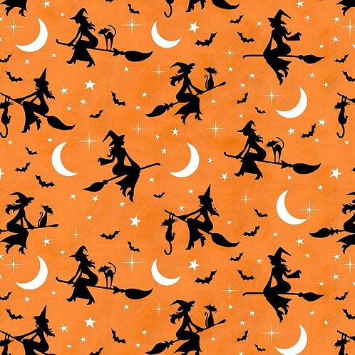 Hocus Pocus Bewitched Fabric - Orange