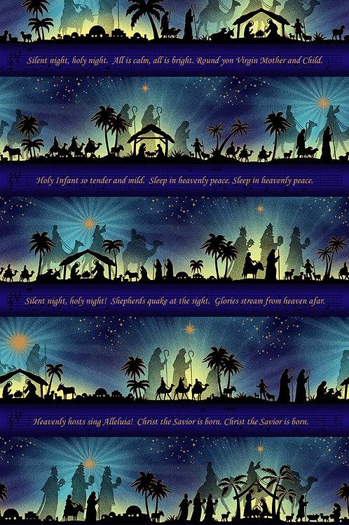 Midnight Silent Night Song Panel - Metallic
