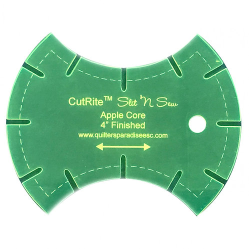 CutRite Slit N Sew Apple Core 4 Inch Finished Template