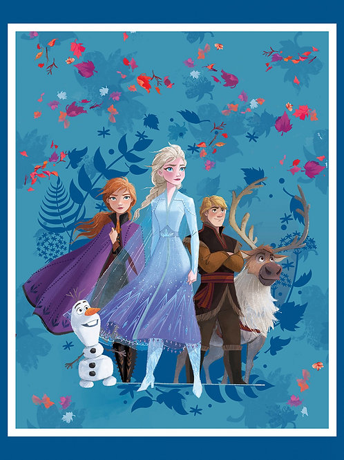 Frozen 2 Friends Forever Fabric Panel