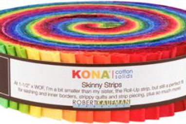 Robert Kaufman Kona Solids Classic Palette Skinny Strips/ Honey Bun