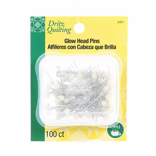 Dritz Quilting Glow Head Pins 100ct