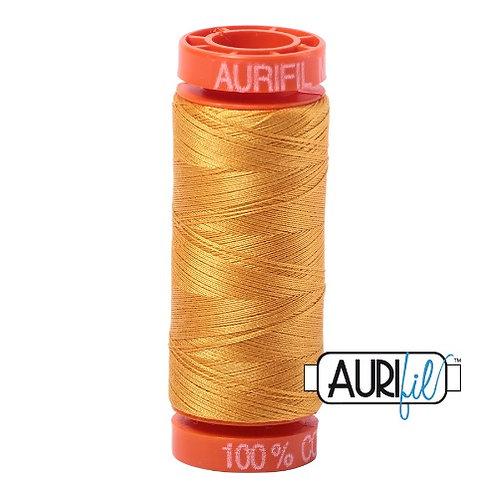 Aurifil 50 200m 2140 Cotton Thread Orange Mustard