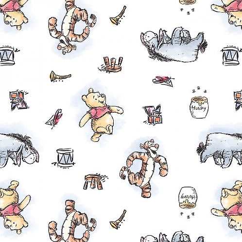Winnie the Pooh and Friends Fabric