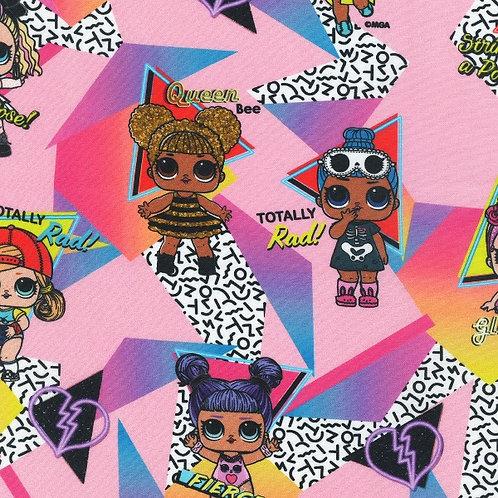 LOL Dolls Candy Pink Fabric
