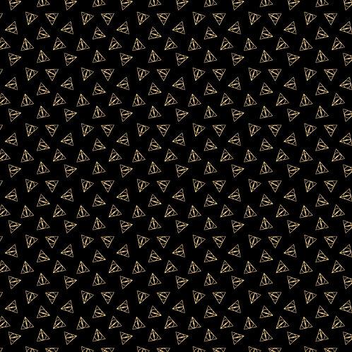 Gold Harry Potter Deathly Hallows Metallic Fabric