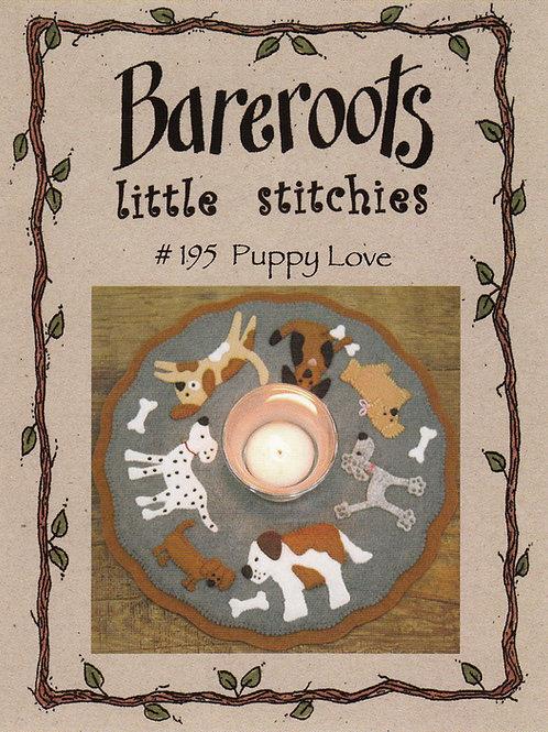 Bareroots Little Stitches Puppy Love Candle Mat Pattern